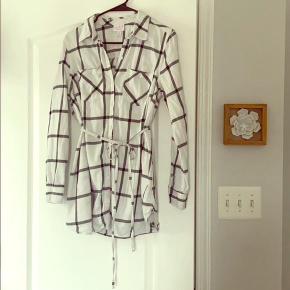 Isabel Maternity by Ingrid & Isabel Tops - Isabel Maternity Plaid Long Sleeve Shirt